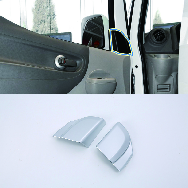 Car Accessories ABS Interior Decoration Front A Pillar Triangle Cover Trim For Nissan NV200 2018 Car Styling