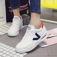 Women Sneakers 2018 New Arrivals Spring Women Flats Shoes Solid Breathable Women Casual Shoes Size 35
