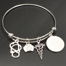 Stainless Steel Bangles for Nurses Adjustable