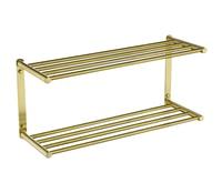 3 Layer Storage Rack Holder Brushed Gold Bathroom Accessories Towel Rack Wall Shampoo Rack SUS304 Stainless Steel Towel Bar