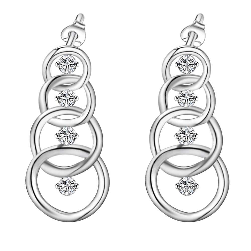 fb00dc4114d0 Nueva llegada Cruz anillo con piedra brillante esterlina-plata-joyería  Pendientes para las mujeres moda joyería pendiente kgddlieh hmdwcvdw