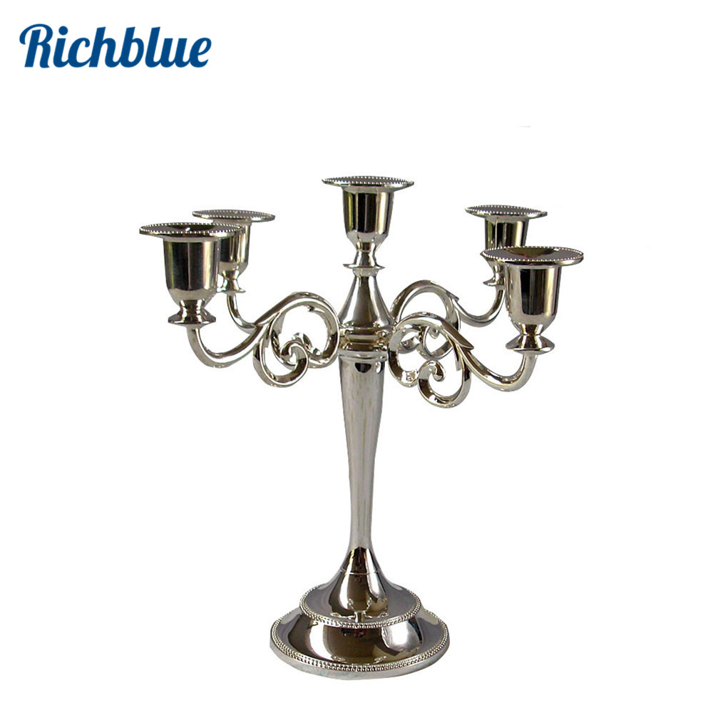 aliexpresscom buy 5 lights metal candle holder candle stand candelabra 26cm tall for wedding christmas event supplies from reliable home decor garden