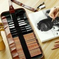 Карандаш для эскизов набор студенческий карандаш для раскрашивания мягкий и жесткий карбоновый пенал набор Школьный карандаш для раскраши...