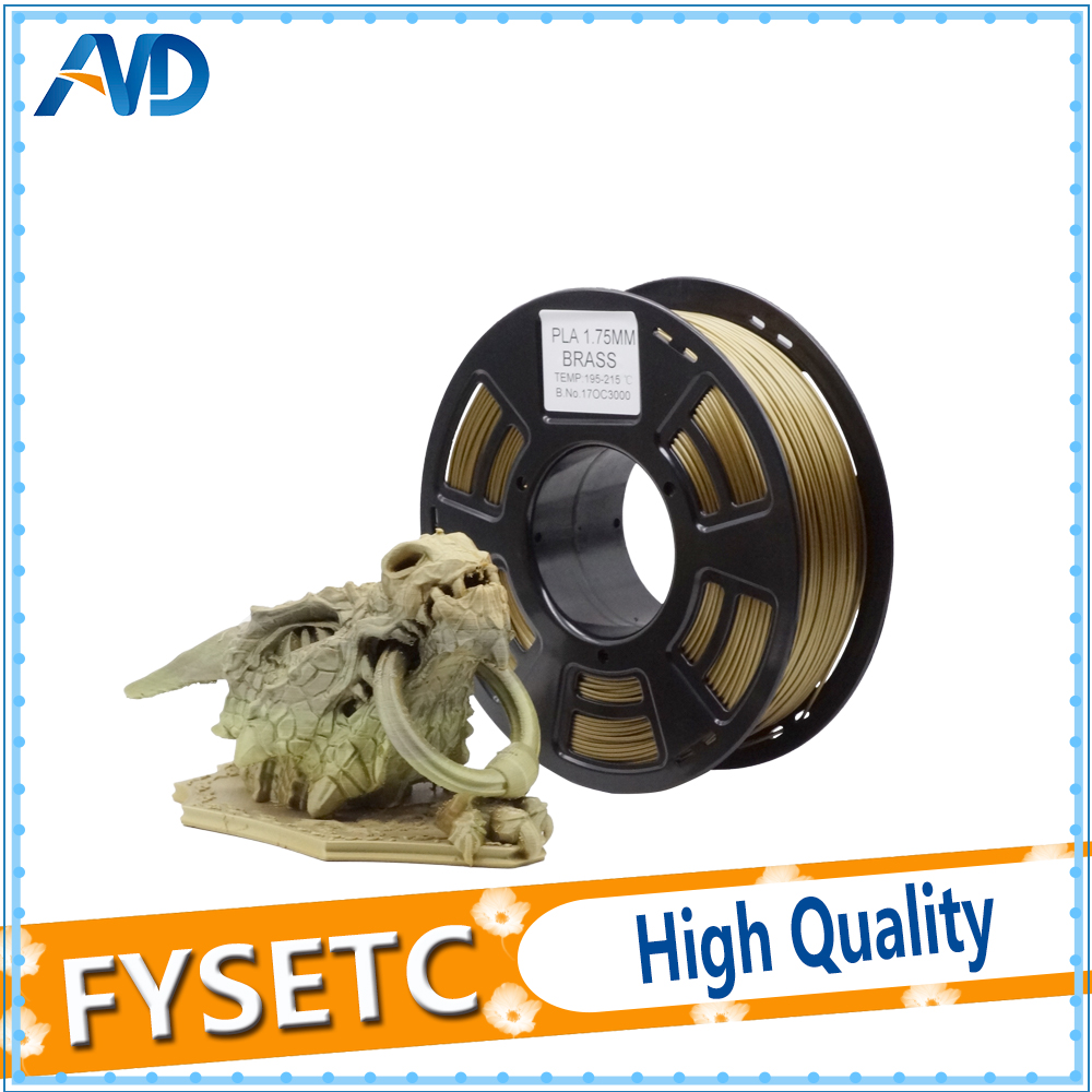 1.75 pla Consumables Brass Color PLA 1.75MM 1kg/2.2lb Filament Materials Plastic Filament for 3D Printer Extruder Or 3d Pen pla 1 75mm filament 1kg printing materials colorful for 3d printer extruder pen rainbow plastic accessories black white red gray