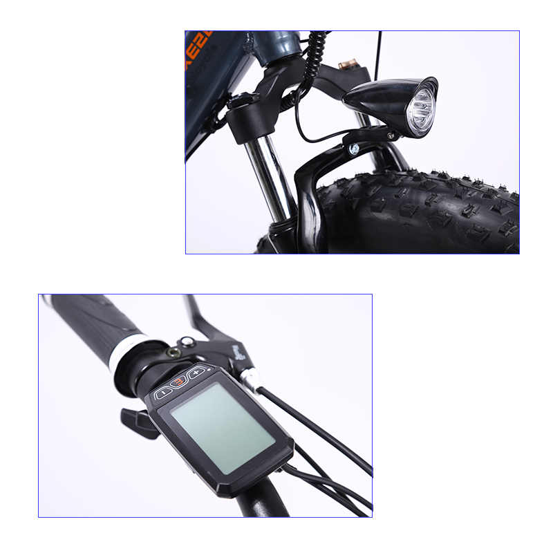 """Lauxjack fatbike bicicleta elétrica quadro alluminium 27 velocidade freio a disco 26 """"x4.0 roda"""