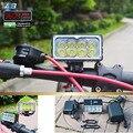 8 X XM-L2 LED A8 bicicleta luz 9600LM LED 3 modos faro con 10000mAh batería impermeable y cargador