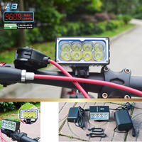 8 X XM L2 LED A8 Bicycle Bike Light 9600LM LED 3 Mode headLamp with 10000mAh Waterproof Battery Pack and charger