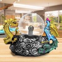 Thunder Plasma Ball Resin Sphere Lamp 110V US Plug Magic Lighting Dragon Touch Sense Static Light Perfect Gift for Friends Kids