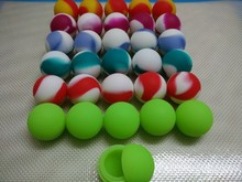 500 x Small Ball Shape Silicone Jars Dab Wax Oil Container