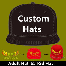 low priced 1e28a fa813 Wholesale 10PCS LOT Personalized Snapback Cap Custom Baseball Hat trucker  cap Adult Children size Embroidery Logo Text