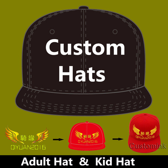 9e644199967e9 Wholesale 10PCS LOT Personalized Snapback Cap Custom Baseball Hat trucker  cap Adult Children size Embroidery Logo Text