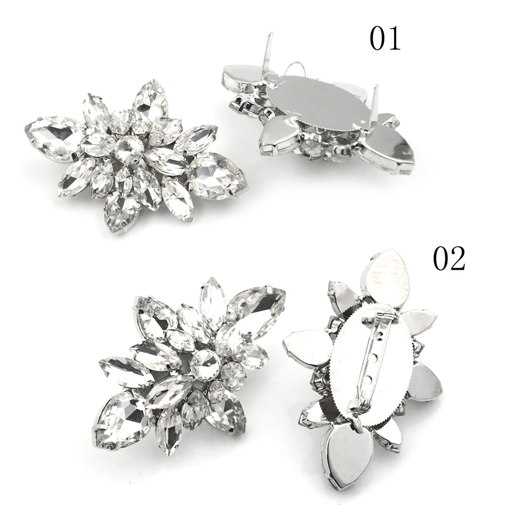 1PCS Diy shoes flower charms bridal high-heel pumps accessories crystal diamond shoe clips Fashion wedding decoration buckle 2pcs one pair shoes flower charms daily shoes high heel pumps fashion bag crystal diamond shoe clips wedding decoration buckle