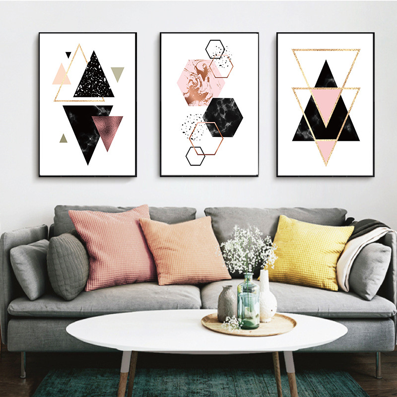 Bedroom Art Supplies: Home Decor Nordic Canvas Painting Wall Art DIY Abstract
