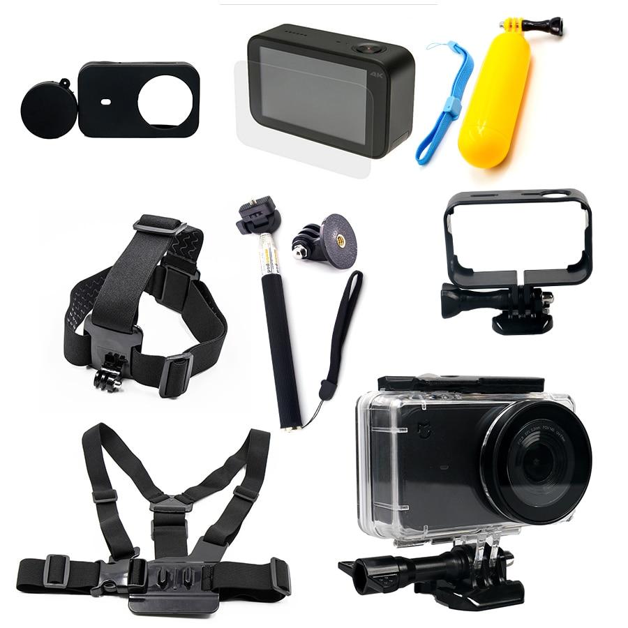 Mijia impermeable caja de vivienda Marcos Conchas piel cubierta lente Cap protector para xiaomi mijia 4 K accesorios Kit