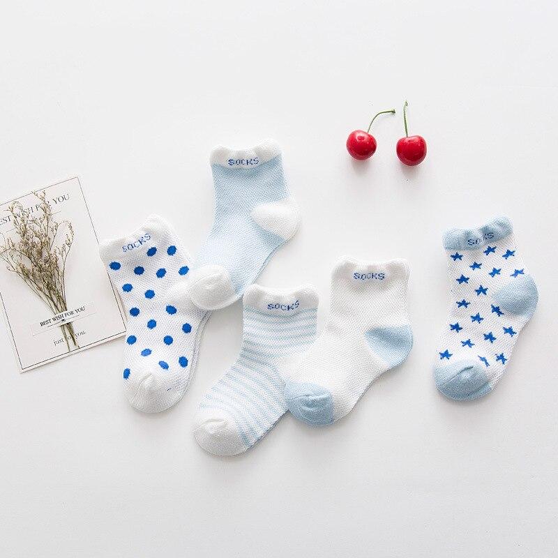 5Pair//lot Kawaii Pattern Cotton Kids Socks Baby Breathable Boys Girls Socks