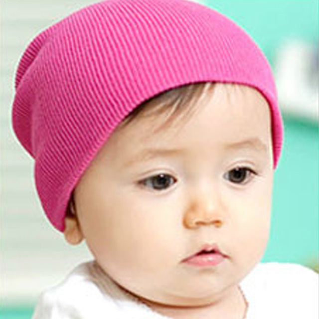 New Brand Baby Cotton Candy Color Newborn Babies Beanies Infant Head Cap Hat  Knitted Hat 4 Colors 9049541a4b5