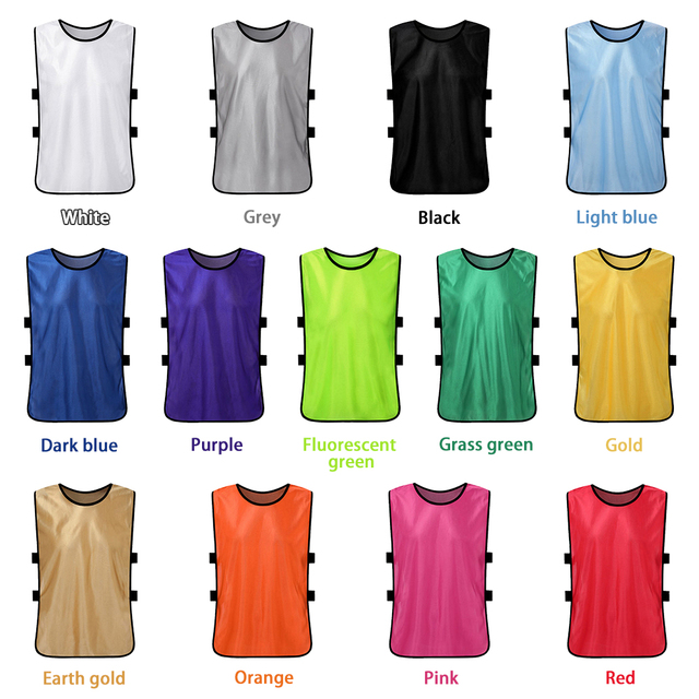 6 PCS Kid's Soccer Jersey Pinnies Quick Drying Football Jerseys Youth Sports Scrimmage Team Training Bibs Practice Sports Vest