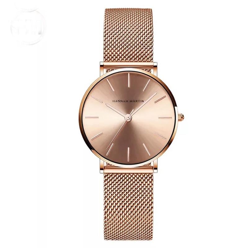 גבירותיי רוז זהב שעון נשים מפורסם מותג מינימליסטי פלדת רשת פשוט Ultrathin שעון נשים עמיד למים יפן קוורץ שעון 2018