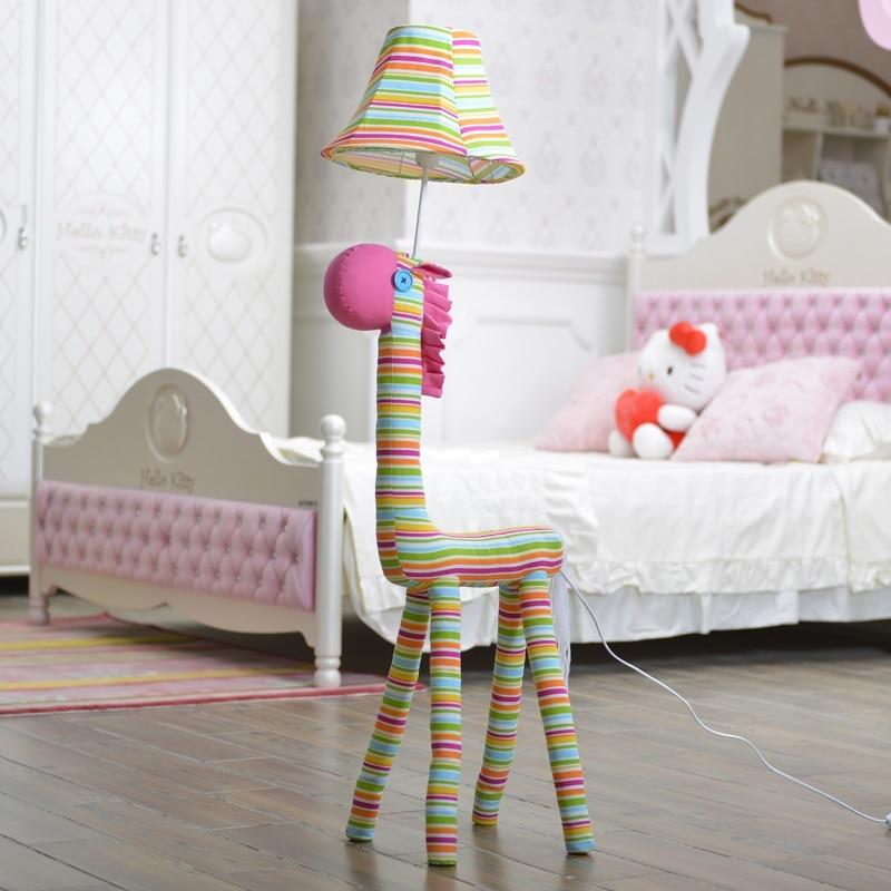 Floor Lamps For Kids Rooms: Children Lamp Decoration Lighting Fabric Caton Animal