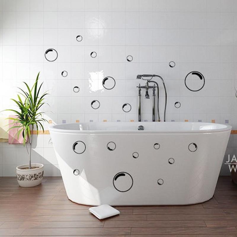 21pcs Bubbles Bathroom Shower Door Mirror Glass Screen