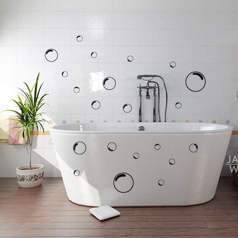 21pcs bubbles bathroom shower door mirror glass screen outline wall tile sticker decal mural wallpaper home