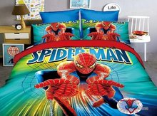 Home Textile 3D Spider Man Cartoon Printed Bedding Set Include Duvet Cover Linen Pillowcase 3pc Single Bed For Kids Baby as Gift