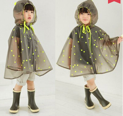Waterproof Transparent EVA Kids Women Raincoat Winter Capa De Chuva For Boys Girls Rain Ponchos Cloak Tour Chubasquero