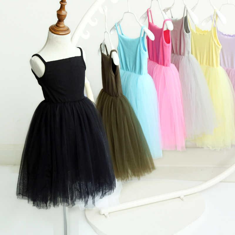 Formal Bóng Gown Evening Trang Phục Tulle Girl Frocks Fancy Chúa Sinh Nhật Đảng Dress Knit Cotton Lưới Vest Ballet Tutu Dress