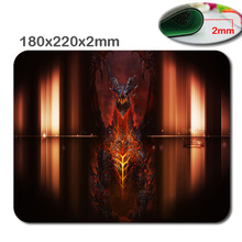 Top Selling 180mmX220mmX2cm Custom Deathwing Design High Quality Skid Durable Fashion Computer And Laptop Gaming Mouse Pad