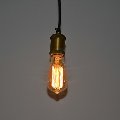 60W Edison Loft Classical Vintage Industrial Pendant Lights Lamp with with Glass Shade(E27/E26 Base) Free Shipping edison bulb loft classical vintage pendant light lamp with with glass shade e27 e26 base free shipping