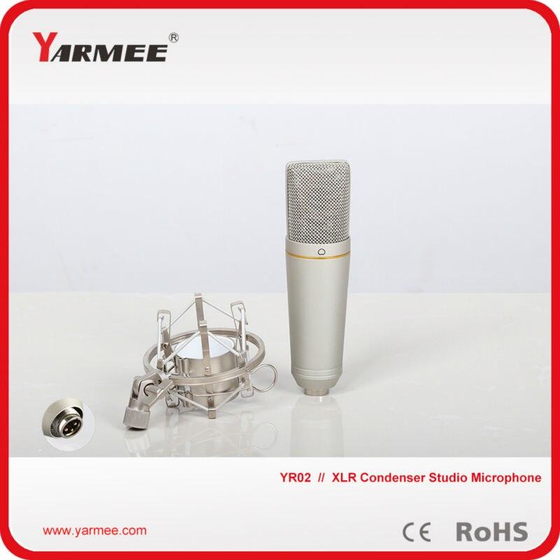 Yarmee professional audio uni directional condenser studio microphone YR02 best quality yarmee multi functional condenser studio recording microphone xlr mic yr01
