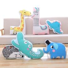 1pc kawaii the hedgehog elephant crocodile giraffe alpaca dinosaur plush toy stuffed soft animal dolls sofa cushion baby gift