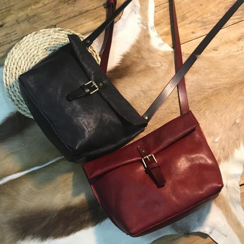 New Women shoulder Crossbody Bag Genuine Leather Female Casual Big Shoulder Bags Hobos High Quality Cowhide Ladies Messenger Bag