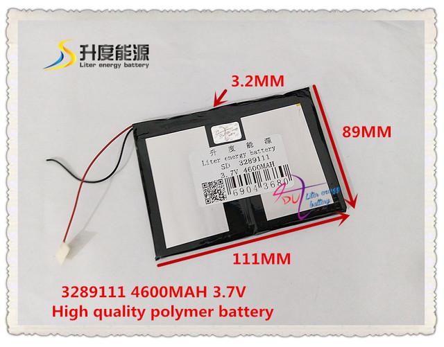 3.7 V 4600 mAH 3289111 bateria De Polímero de iões de lítio/bateria de Iões de lítio para tablet pc BANCO do PODER do telefone celular