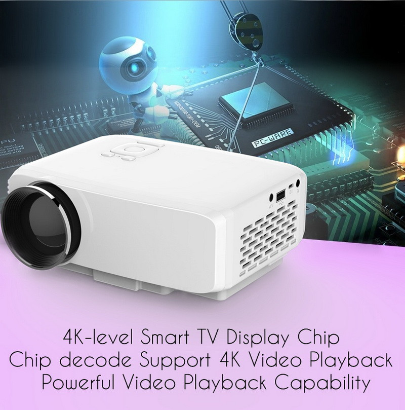 ФОТО GP9S Full HD 120inch Mini Portable Easy Micro TV Projector TFT-LCD Panel for Games Home Theatre Beamer 800 Lumens 4K 5.1 1080P