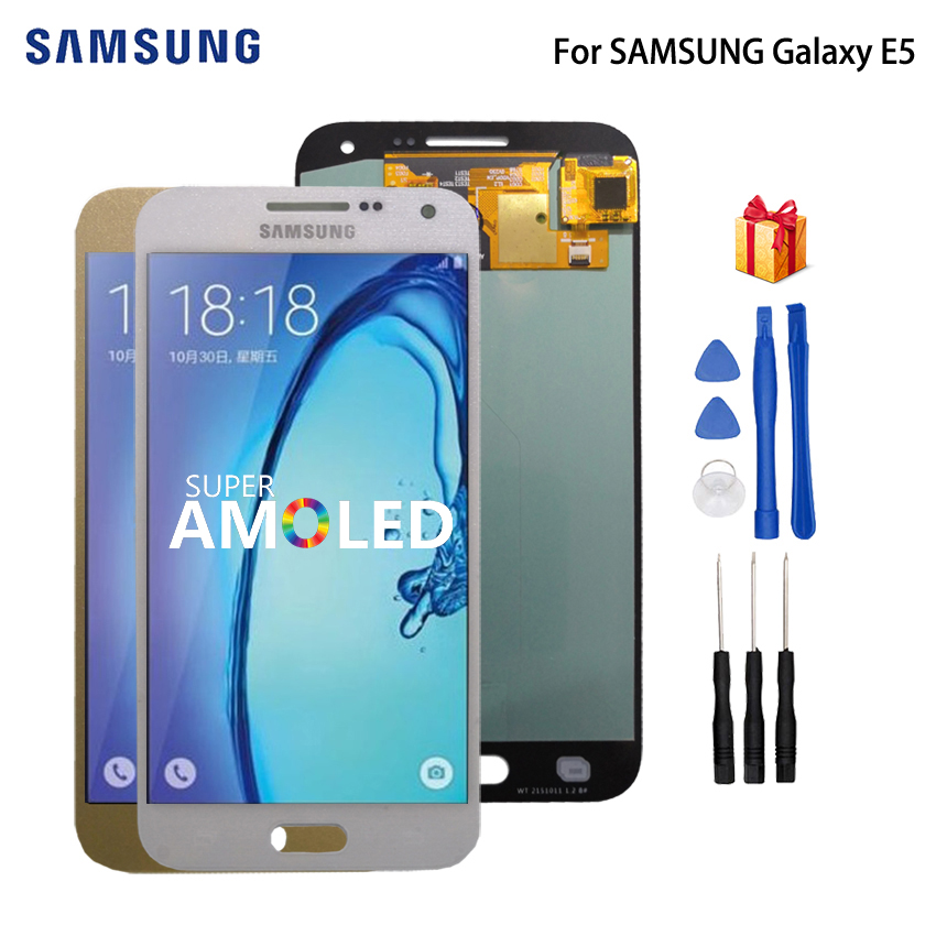 AMOLED For SAMSUNG Galaxy E5 LCD Display Touch Screen Digitizer Display For Galaxy E5 E500 E500M E500F E500H Screen LCD Display in Mobile Phone LCD Screens from Cellphones Telecommunications