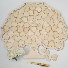 Упаковочная коробка с деревом, деревянная свадебная книга в форме дерева, альтернатива, в форме дерева, Dropbox, свадебная книга для гостей на заказ, свадебная книга для гостей