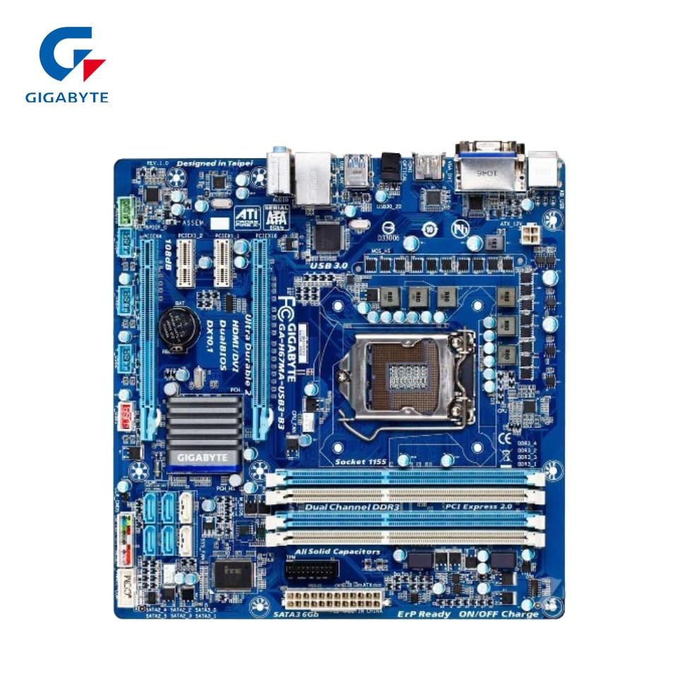 Gigabyte GA-H67MA-USB3-B3 Original Used Desktop Motherboard H67MA-USB3-B3 H67 LGA 1155 i3 i5 i7 DDR3 32G for gigabyte ga p61 ds3 b3 original used desktop motherboard p61 ds3 b3 for intel h61 lga 1155 for i3 i5 i7 ddr3 16g atx