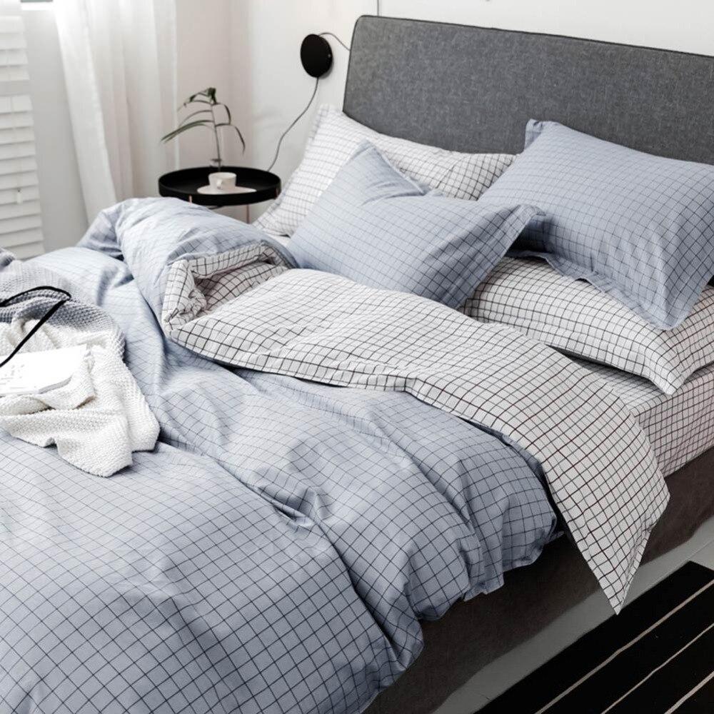 PAPA & MIMA Japanischen minimalistischen stil bettwäsche sets baumwolle Twin Einzel Königin Größe bettbezug bettlaken kissenbezüge-in Bettwäsche-Sets aus Heim und Garten bei  Gruppe 2