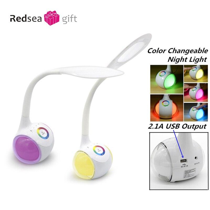 Les haut-parleurs Bluetooth les plus populaires touchent les boutons multi-fonction soins des yeux apprentissage lecture lampe de table haut-parleur 36 LEDs lumière