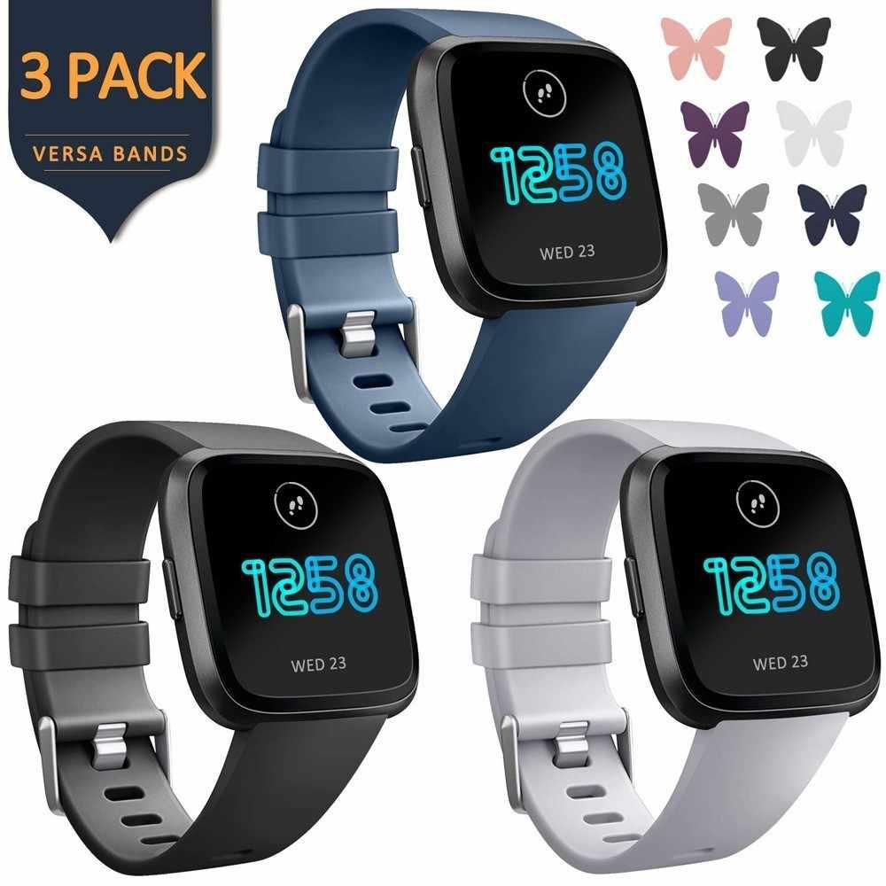 PACK de 3 bandas de silicona para Fitbit Versa Lite, repuesto de pulsera deportiva para reloj inteligente, correa para Fitbit Versa Edition