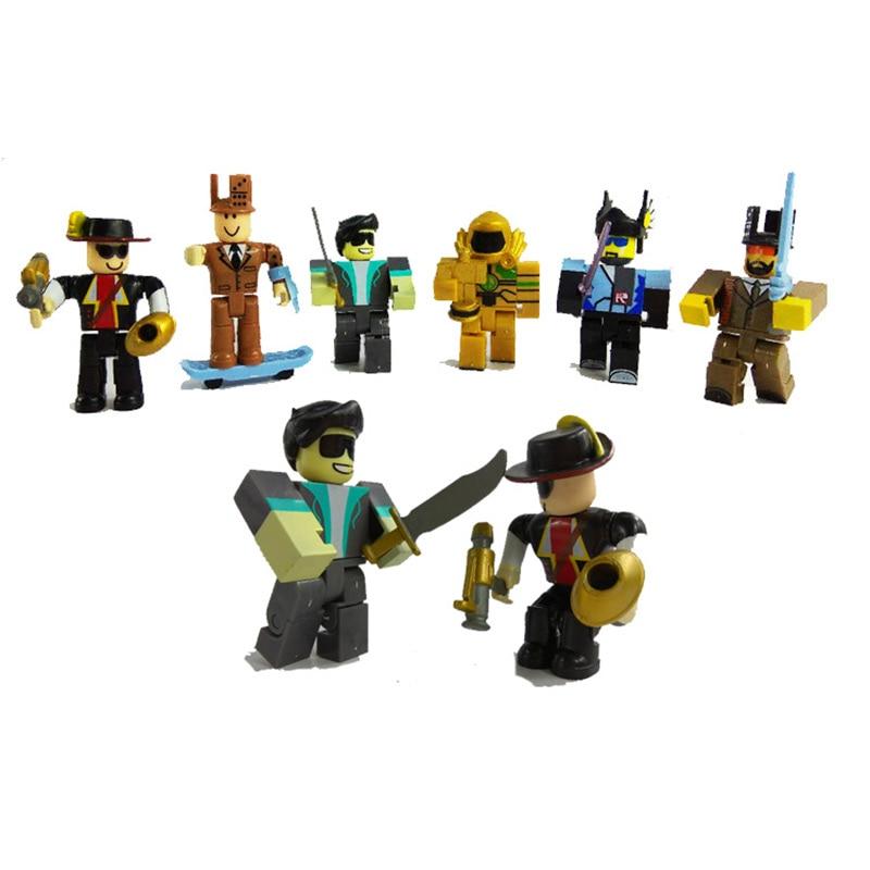 6pcs set roblox boys figures juguetes 2018 7cm pvc anime figurines