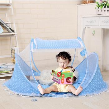 Duża przestrzeń łatwa instalacja dla dzieci moskitiery dziecko składane moskitiery przeciw komarom tanie i dobre opinie Jednodrzwiowe Poliester bawełna Camping Podróży OUTDOOR Domu Babies Wędka chowany moskitiera A00001 ZHE XUAN Home Center