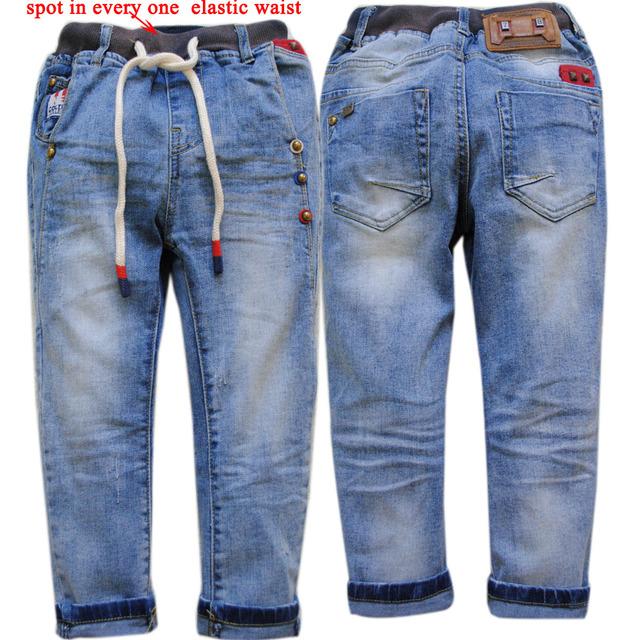 4002 regular crianças de jeans meninos calça jeans azul calça casual primavera outono calças 2017 calças de brim menino moda crianças roupas da moda