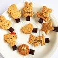 1 PCS Scrunchy Meninas Bonito Simulado Biscoitos Desenhos Animados Forma Grampo de Cabelo Grampos de Cabelo Do Bebê Headbands Crianças Hairclip Acessórios Para o Cabelo