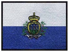 San marino bordado de la bandera de 3 «de ancho envío libre/vestido de ganchillo hecho a mano/futbol parches/3d apliques