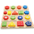 Montessori Kids Educational Toy Wooden Blocks Shape Mating Colors Recognize Math Toy Child Early Learning