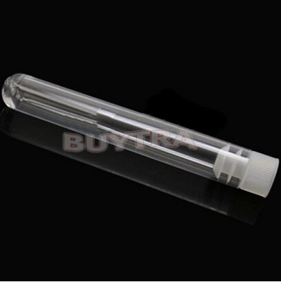 10 Pcs Plastic ClearTest Tube With Cap 12x75mm U-shaped Bottom Long Transparent Test Tube Lab Supplies