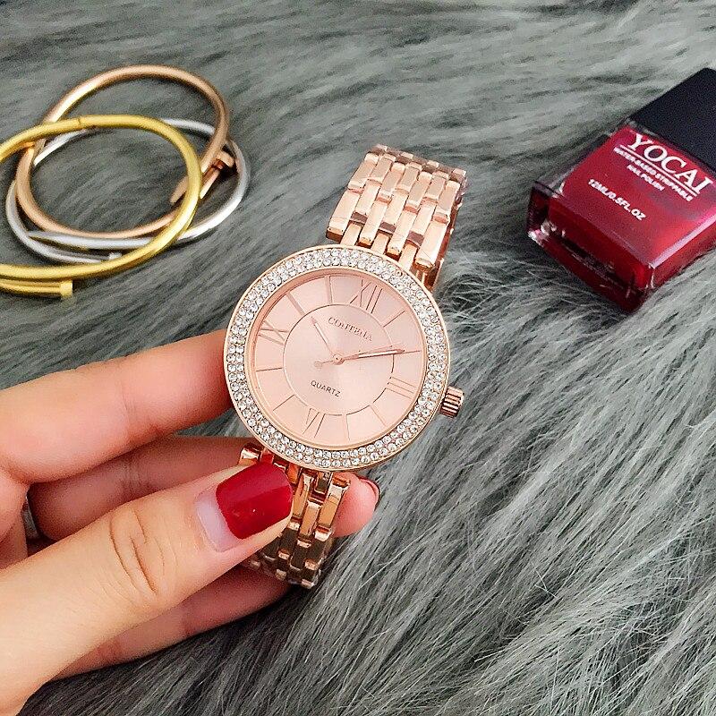 CONTENA Rose Gold Watch Women Watches Luxury Women's Watches Ladies Watch Women Clock montre femme reloj mujer relogio feminino