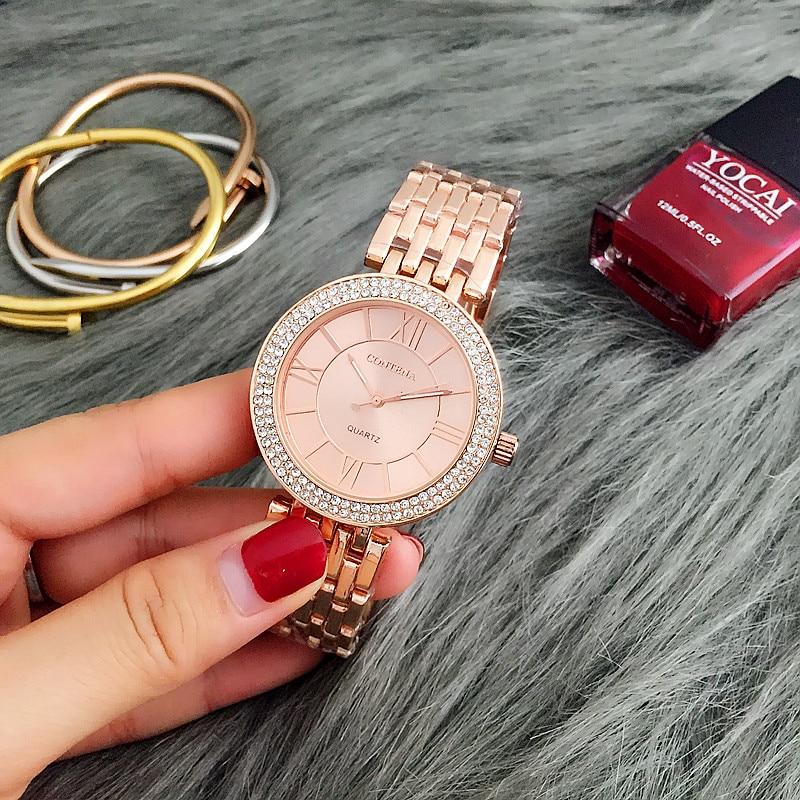 CONTENA Rose Gold Watch Women Watches Rhinestone Women's Watches Ladies Watch Clock montre femme relogio feminino reloj mujer все цены